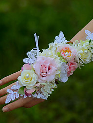 YUXIYING Wedding Flowers  Roses Long Wrist Corsages Wedding Party Pink