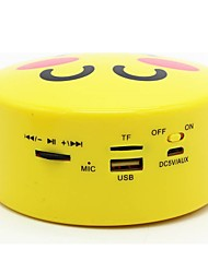 Emoji Pattern Stereo Wireless Bluetooth Loud Speakers Cartoon Support Handsfree Calls Function for Smartphone