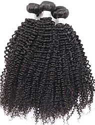 Natural Color Hair Weaves Mongolian Texture Kinky Curly 12 Months Three-piece Suit hair weaves
