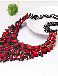 MPL Europe and the United States exaggerated fashion Bohemia national wind zircon Glass Crystal Necklace