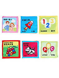 Educational Flash Cards Reading Toys Square Fabric 3-6 years old