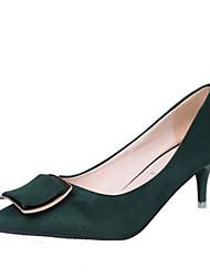 Damen High Heels Komfort Pumps PU Frühling Normal Komfort Pumps Schwarz Grün Rosa Unter 2,5 cm