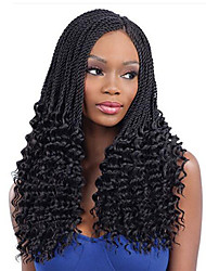 3PCS/Set Freetress Crochet Braid PRE-TWISTED FLASHY CURL Ombre Senegalese Twist Hair Synthetic Hair Extensions