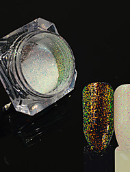 0.2g/bottle Nail Art DIY Glitter Holographic Sparkling Powder Starry Effect Charming Design Shining Decoration For Nail Art Beauty HC01