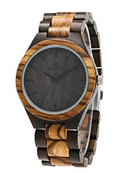 REDEAR®Men's Wood Watch Miyota Japanese Miyota Quartz Wooden Wood Band Luxury Elegant Brown Black
