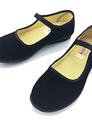 Women's Loafers & Slip-Ons Office/Business Fabric Spring Summer Casual Office/Business Low Heel Black Under 1in