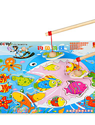 Magnet Toys Fishing Toys For Gift  Building Blocks Square Wooden 1-3 years old 3-6 years old Toys