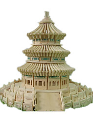 Jigsaw Puzzles DIY KIT 3D Puzzles Building Blocks DIY Toys Famous buildings Chinese Architecture Architecture Wooden Wood