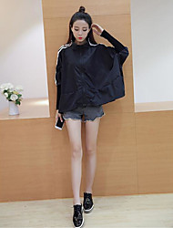 Women's Going out Casual/Daily Simple Jackets Summer Trench Coat,Solid Stand Long Sleeve Short Others
