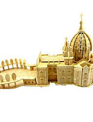 Rompecabezas Kit de Bricolaje Puzzles 3D Bloques de construcción Juguetes de bricolaje Iglesia Arquitectura