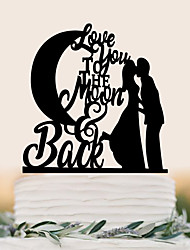 The custom lady is decorated with moon acrylic wedding cake decorated with cake decorated with cake