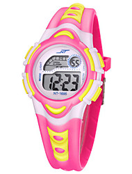 Men's Girls Sport Watch Digital Watch Digital Water Resistant / Water Proof Noctilucent Rubber Band Multi-Colored
