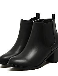 Women's Boots Comfort PU Winter Casual Comfort Black 2in-2 3/4in