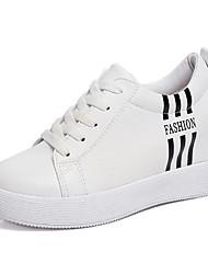 Mujer Zapatillas de deporte Confort PU Verano Casual Confort Blanco Negro 5 - 7 cms