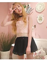 Mujer Primavera T-Shirt Pantalón Trajes,Escote Redondo Manga Corta