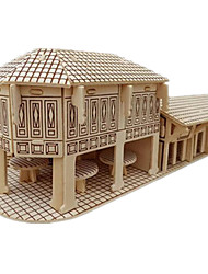 Jigsaw Puzzles DIY KIT 3D Puzzles Building Blocks DIY Toys Chinese Architecture Architecture Wooden