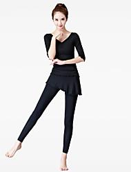 Mujer Pantalones de Running Gimnasio, Correr & Yoga Prendas de abajo para Yoga Ejercicio y Fitness Baile Modal Negro