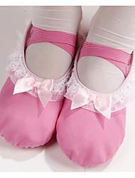 Femme Ballet Toile Tissu Plates Entraînement Fuchsia Rose