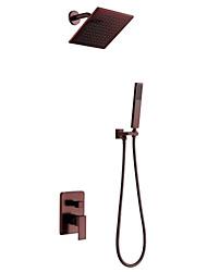 Montagem de Parede Válvula Cerâmica Duas alças de três furos for  Bronze Polido a Óleo , Torneira de Chuveiro
