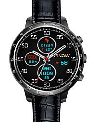 Herrn Smart Uhr digital Leder Band Schwarz