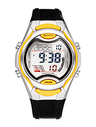 Kid's Sport Watch Digital Watch Digital Water Resistant / Water Proof Noctilucent Rubber Band Black Red