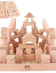 Kit Faça Você Mesmo Blocos de Construir para presente Blocos de Construir Madeira Natural 3-6 anos de idade Brinquedos