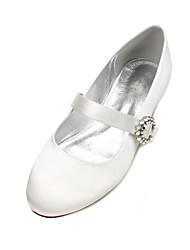 Femme Chaussures de mariage Ballerine Mary Jane Confort Satin Printemps Eté Mariage Soirée & Evénement HabilléStrass Paillette Brillante