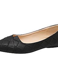Women's Flats Comfort Ballerina Light Soles Spring Summer PU Casual Outdoor Split Joint Flat Heel Black Gray Green Almond Flat