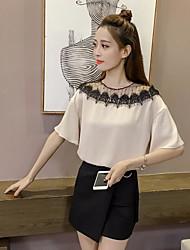 T-shirt Da donna Per uscire Moda città Monocolore Girocollo Altro Mezza manica