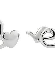 Drop Earrings New Mismatching Asymmetry Earrings Fashion LOVE  Shape Rhinestone For Women Valentine Wedding Movie Gift Jewelry