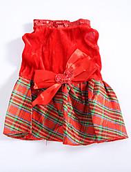 Cachorro Vestidos Roupas para Cães Natal Corações Vermelho