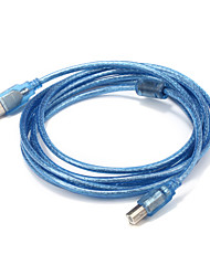 USB 2.0 Cable, USB 2.0 to USB Type B Cable Male - Male 3.0m(10Ft)