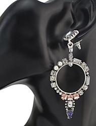 Mujer Pendientes colgantes CristalDiseño Básico Circular Diseño Único Colgante Diamantes Sintéticos Amistad Turco Gótico Duradero joyería