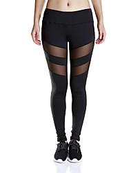 calças de yoga Meia-calça Fitness, Corrida e Yoga Pavio Humido Natural Com Elástico Moda Esportiva MulheresIoga Correr Exercício e