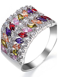 Ring Settings Ring  Luxury Elegant Noble Zircon  Women's  Multicolor Rhinestone Euramerican Fashion Birthday Wedding Movie Gift Jewelry
