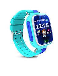 Kid's Smart Watch Digital Rubber Band Blue Orange Pink