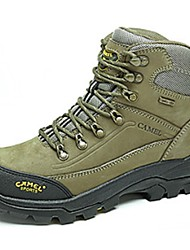 Camel Women's Athletic Shoes Comfort Cowhide Comfort Hiking Shoes Color Khaki/Army Green