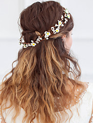Tiaras Two-line Wreaths White Wedding Birthday Party/Evening Outdoor clothing Cocktail Party Beach Party/Cocktail