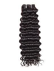 Cabelo Humano Ondulado Cabelo Brasileiro Encaracolado 12 meses 1 Peça tece cabelo
