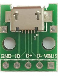 Micro usb для окунания (2,54 мм) гнездовая плата микрофона для микрофона с микрофоном типа b