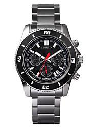 Men's Fashion Watch Quartz Stainless Steel Band Black Silver Rose Gold