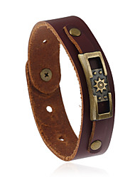Retro All-Match Alloy Accessories Leather Bracelet
