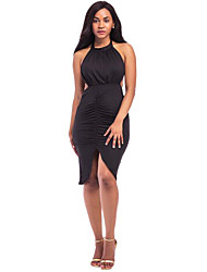 Women's Halter Neck Backless Bodycon Dress Backless Short Dress