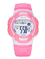 Kid's Sport Watch Digital Watch Digital Water Resistant / Water Proof Noctilucent Rubber Band Black Blue Pink