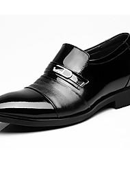 Herren Outdoor formale Schuhe Leder Frühling Herbst formale Schuhe Schwarz Unter 2,5 cm