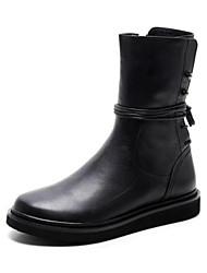Women's Boots Comfort PU Winter Casual Comfort Black 1in-1 3/4in