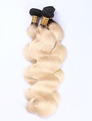 Beata Hair Peruvian Remy Virgin Human Hair Bundles Body Wave T1b/613# Ombre Blonde Hair Weft Extensions