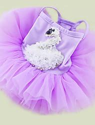 Chien Robe Vêtements pour Chien Décontracté / Quotidien Princesse Blanc Violet Rose