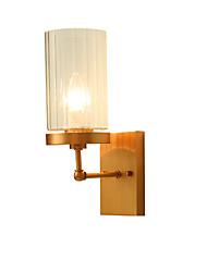 5 E12/E14 Tiffany simple Traditionnel/Classique Rustique Laiton Fonctionnalité for Style mini Ampoule incluse,Vers le Haut Applique murale