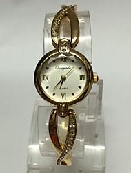 Women's Fashion Watch Wrist watch Bracelet Watch Chinese Quartz Metal Band Casual Gold